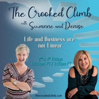 The Crooked Climb with Denise and Suzanne: Life and Business are not Linear: Roses are red. Violets are Blue. Sugar is sweet but your taste buds are numb and you can't taste it!